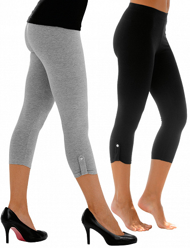 3/4-Leggings im 2er-Pack