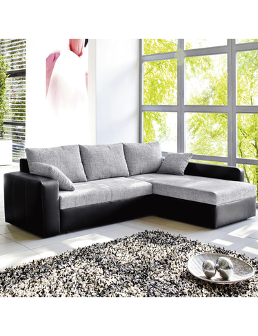 schlafsofa liberty schwarz grau. Black Bedroom Furniture Sets. Home Design Ideas