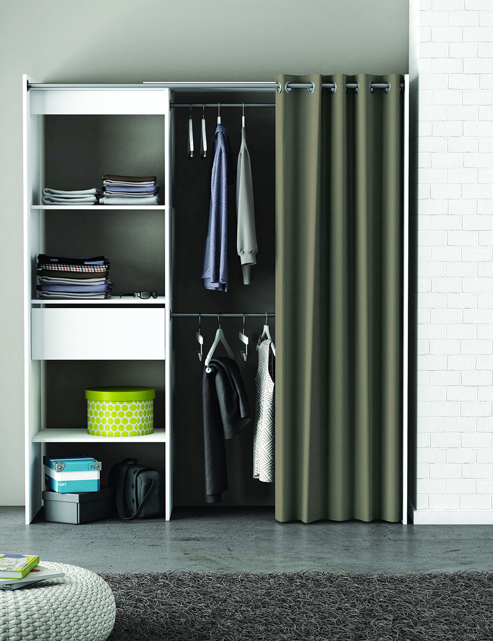 armoire dressing plus extensible. Black Bedroom Furniture Sets. Home Design Ideas