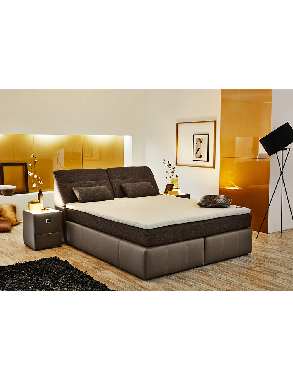 boxspring bett palace 180 x 200 cm. Black Bedroom Furniture Sets. Home Design Ideas