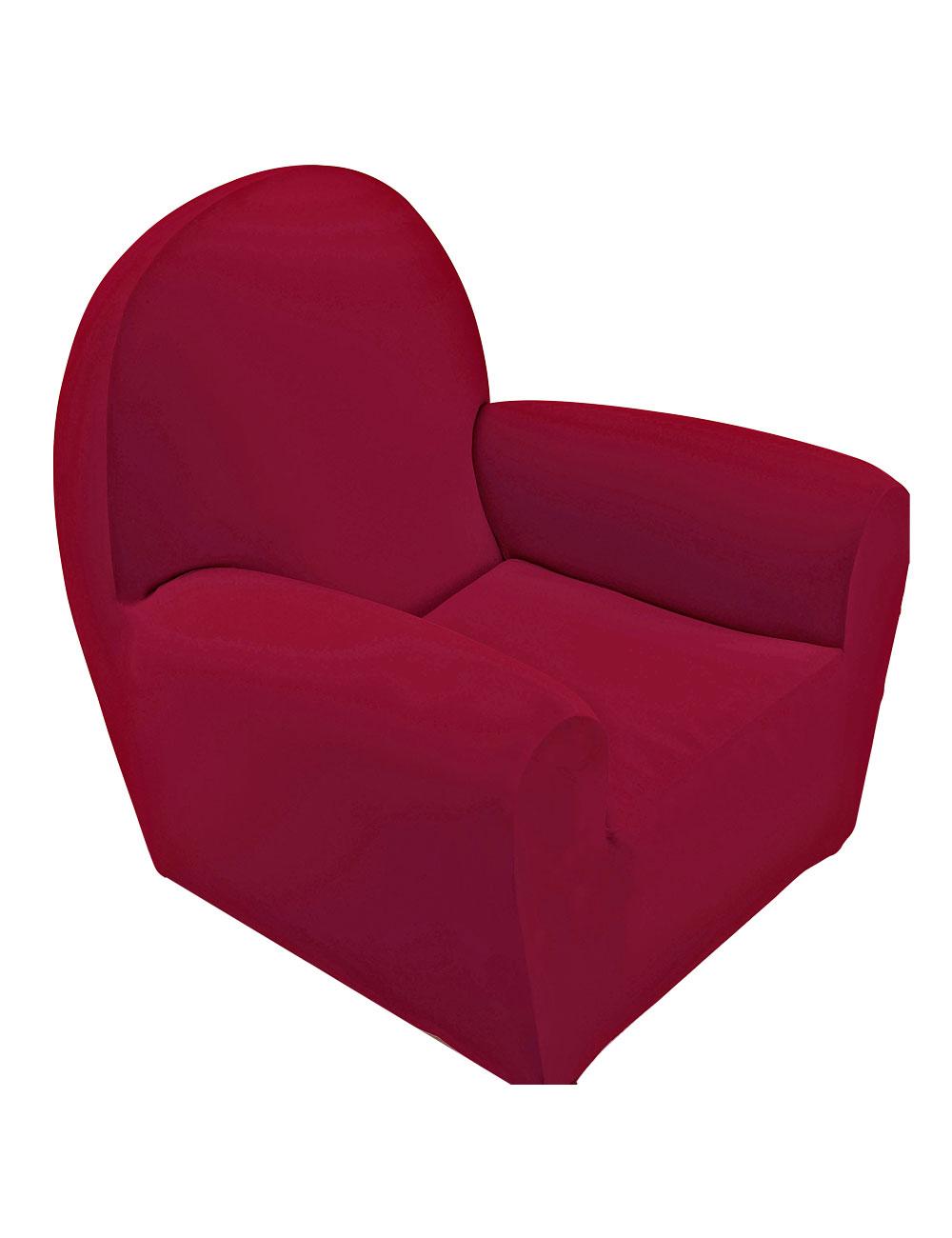 Housse bi lastique pour canap 3 places 185 210 cm rouge for Housse canape elastique