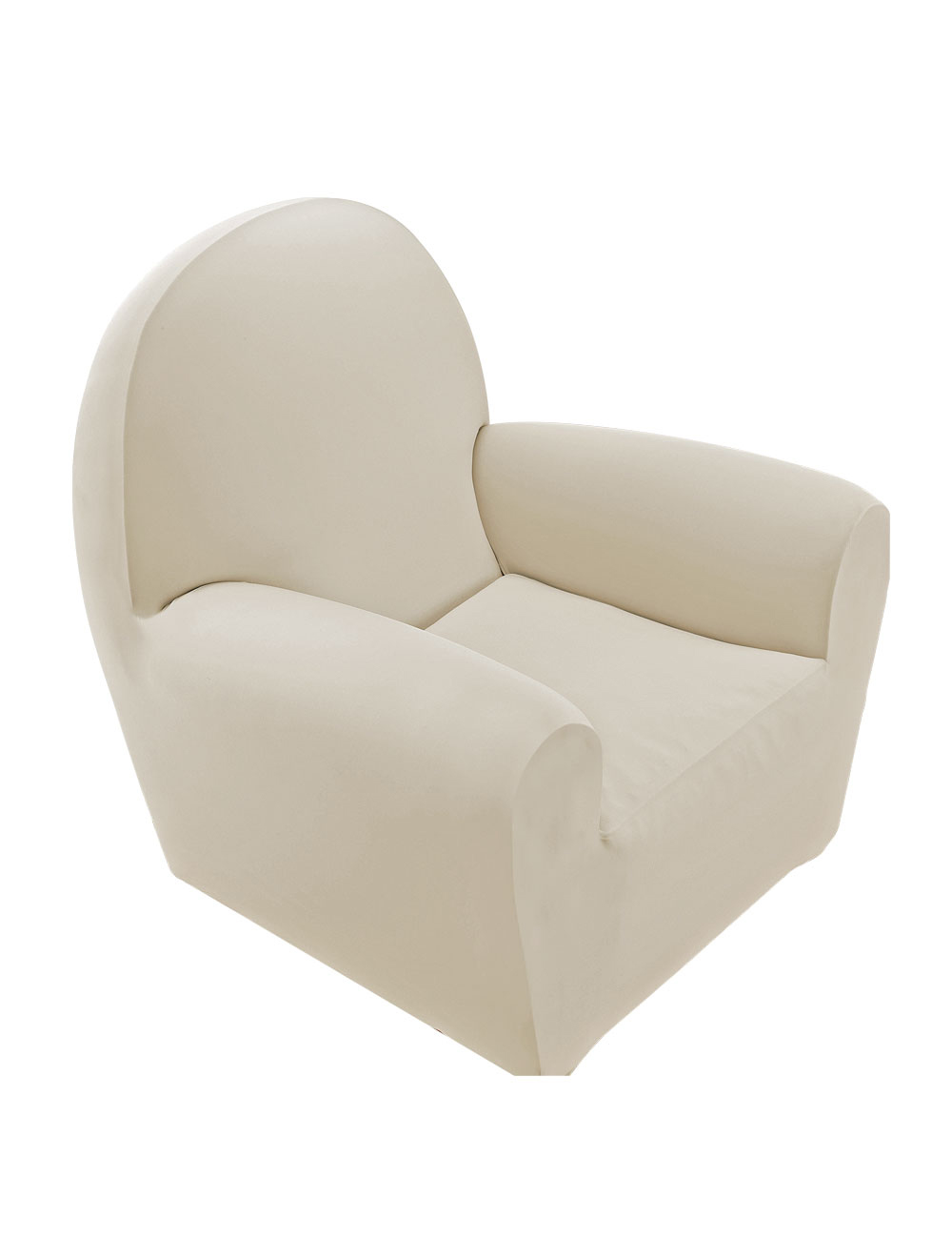 Housse pour chaise en jersey microfibre beige for Housse de chaise beige