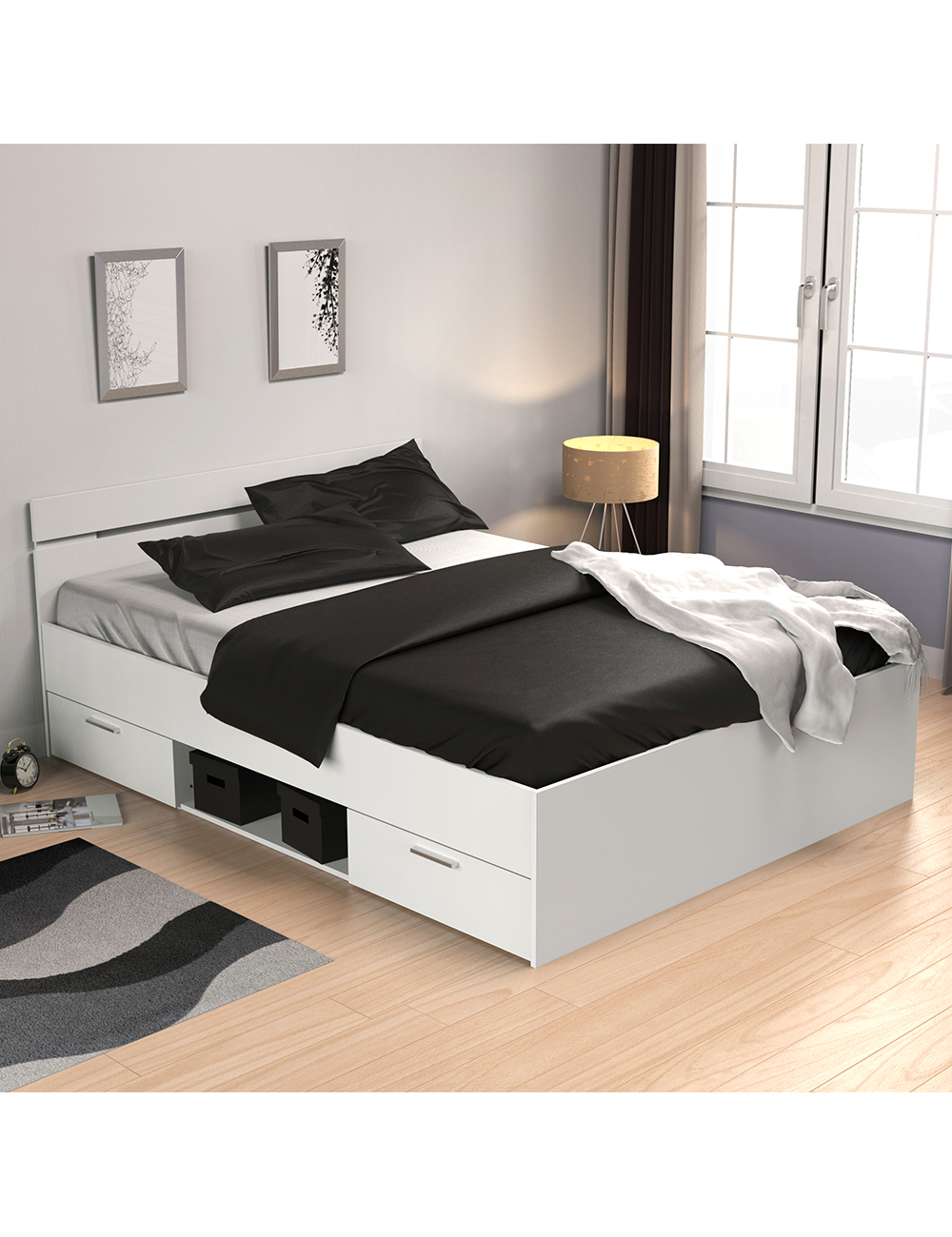 lit multifonction liberty 140 x 200 cm. Black Bedroom Furniture Sets. Home Design Ideas