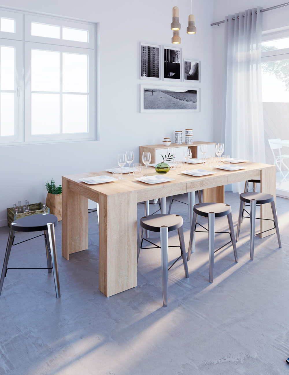 Table extensible d cor ch ne - Table extensible chene ...