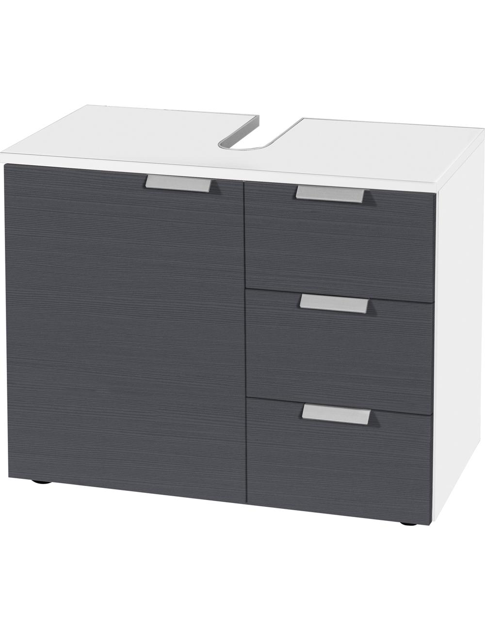 lavabo unterschrank swiss 2 grau. Black Bedroom Furniture Sets. Home Design Ideas