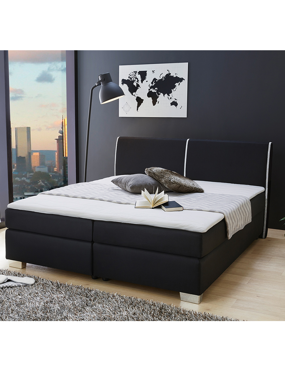 boxspringbett harry. Black Bedroom Furniture Sets. Home Design Ideas