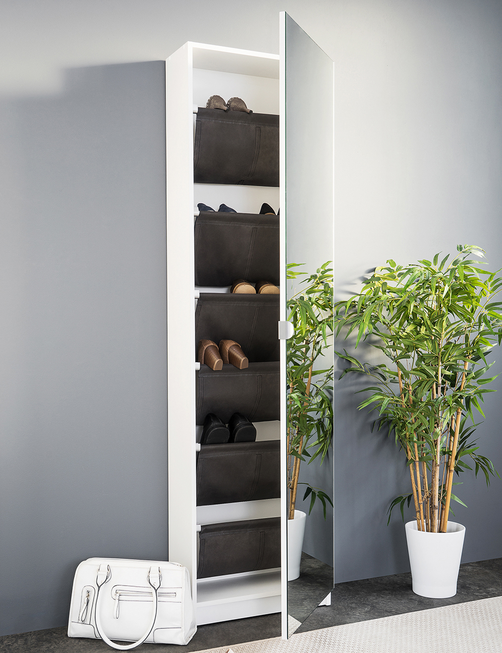 armoire chaussures zapo 12 paires. Black Bedroom Furniture Sets. Home Design Ideas