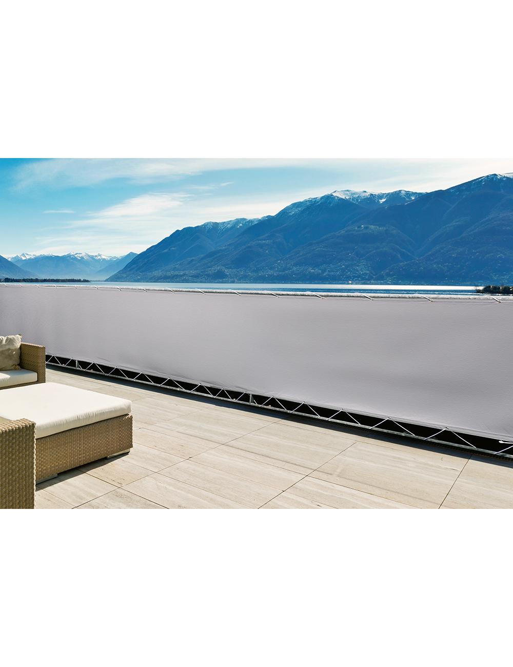 balkon sichtschutz aus pe segelstoff. Black Bedroom Furniture Sets. Home Design Ideas