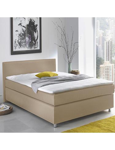 boxspringbett new york 140 x 200 cm beige. Black Bedroom Furniture Sets. Home Design Ideas