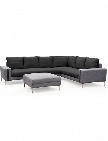 Ecksofa «Cliff» mit Hocker