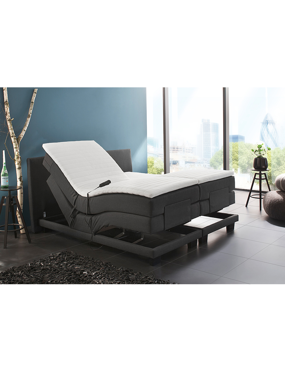lit boxspring electrique s. Black Bedroom Furniture Sets. Home Design Ideas