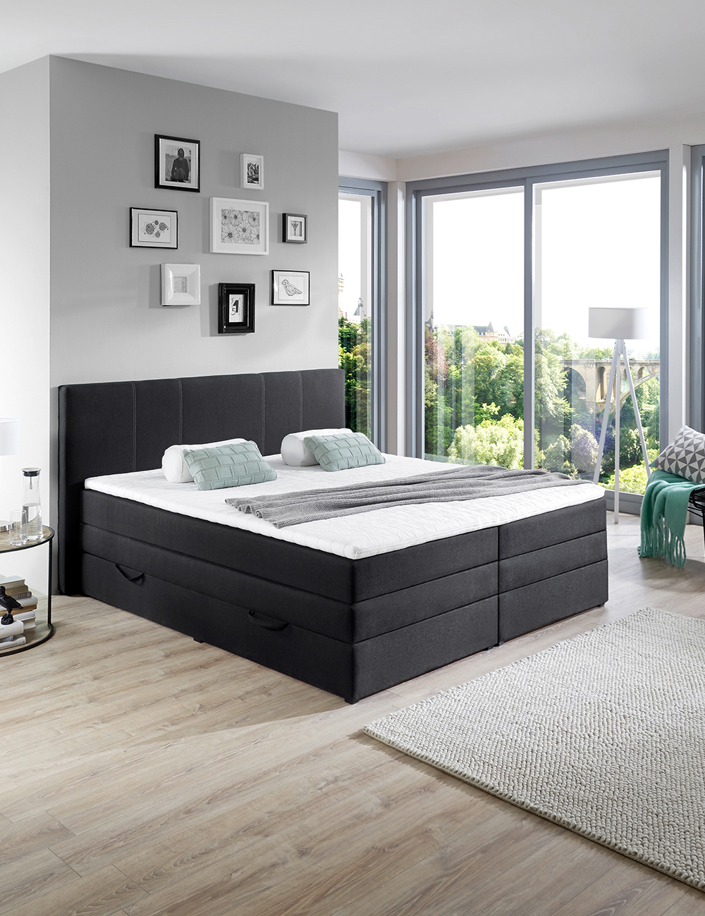 lit boxspring hills 180 x 200 cm. Black Bedroom Furniture Sets. Home Design Ideas