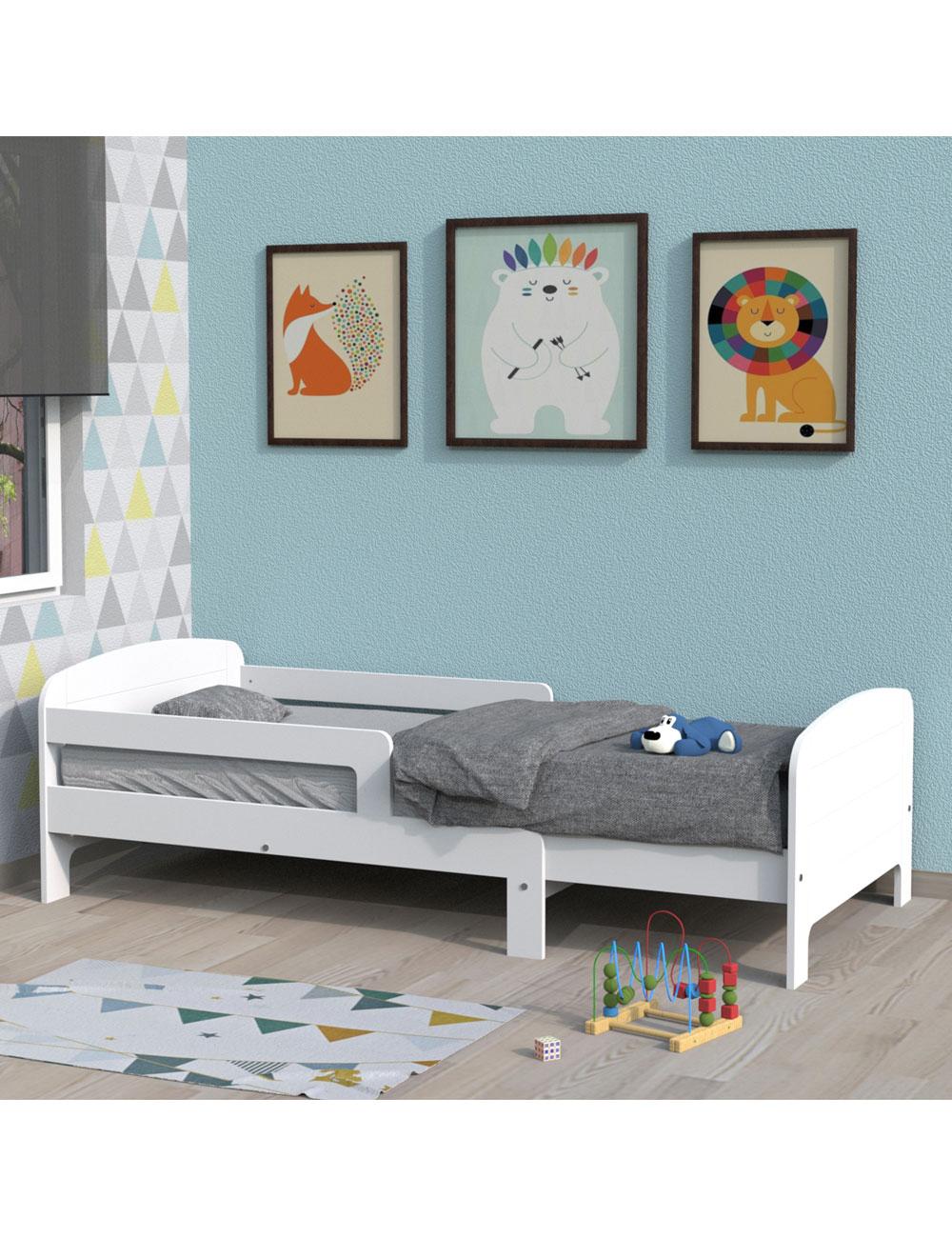 lit volutif mathias blanc. Black Bedroom Furniture Sets. Home Design Ideas