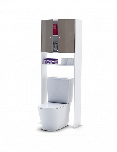 WC-Möbel mit High-Gloss-Finish
