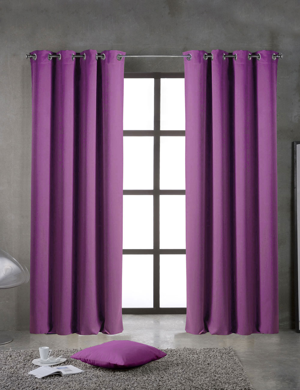 vorhang lichtundurchl ssig lila. Black Bedroom Furniture Sets. Home Design Ideas