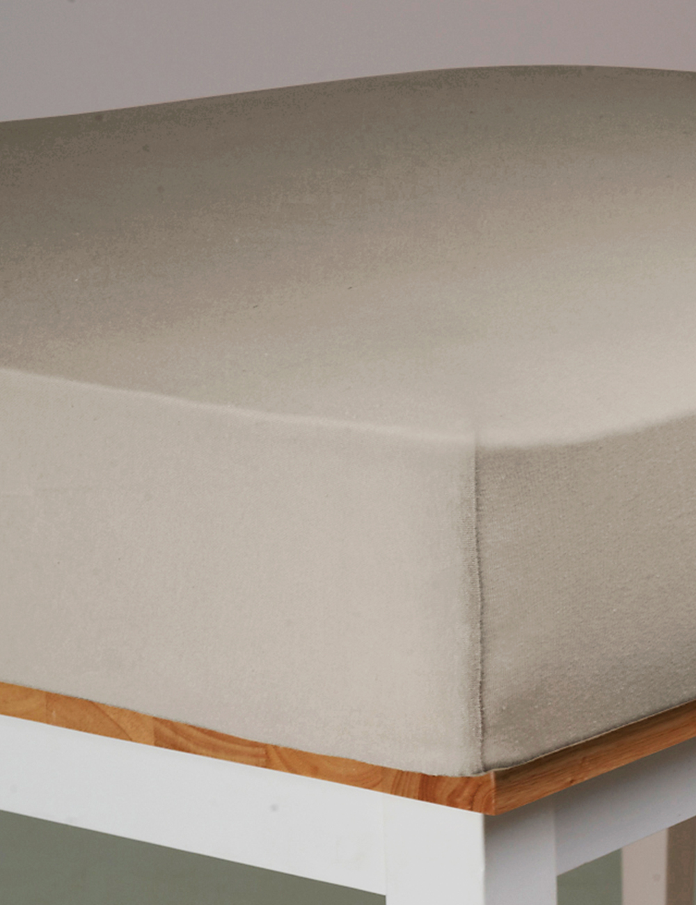 Drap housse stretch 90 x 200 cm beige - Drap housse 90 x 200 ...