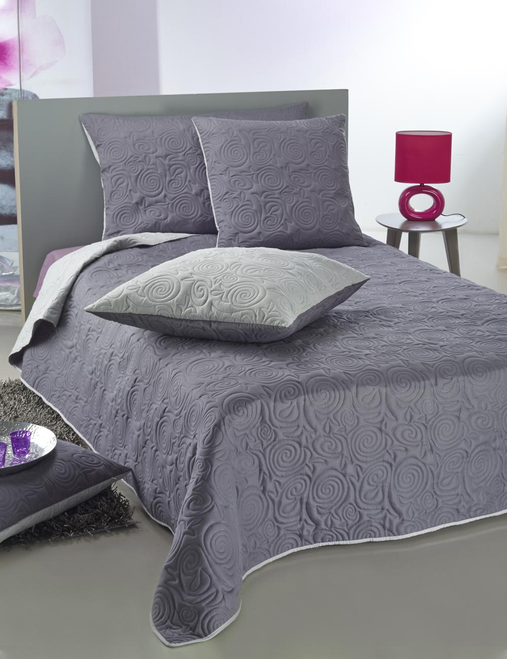 bett berwurf ultra 260 x 260 cm silber anthrazit. Black Bedroom Furniture Sets. Home Design Ideas