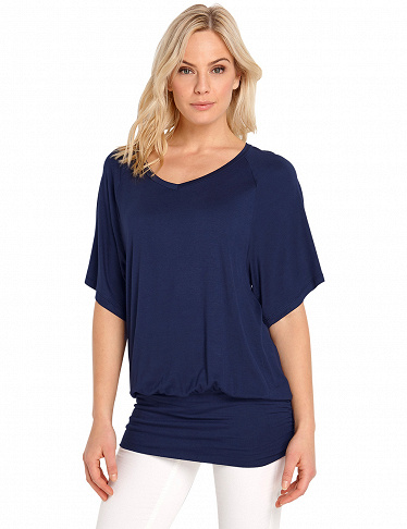 Top von Happy Holly mit Fledermausärmeln, marine