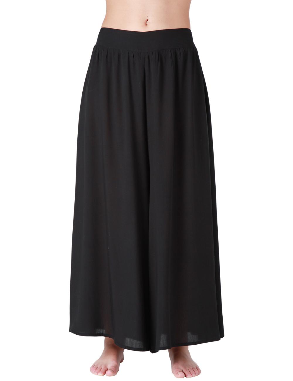 pantalon large noir. Black Bedroom Furniture Sets. Home Design Ideas