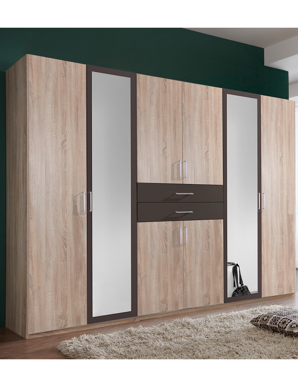 kleiderschrank lea dekor sonoma eiche s gerau und lava. Black Bedroom Furniture Sets. Home Design Ideas