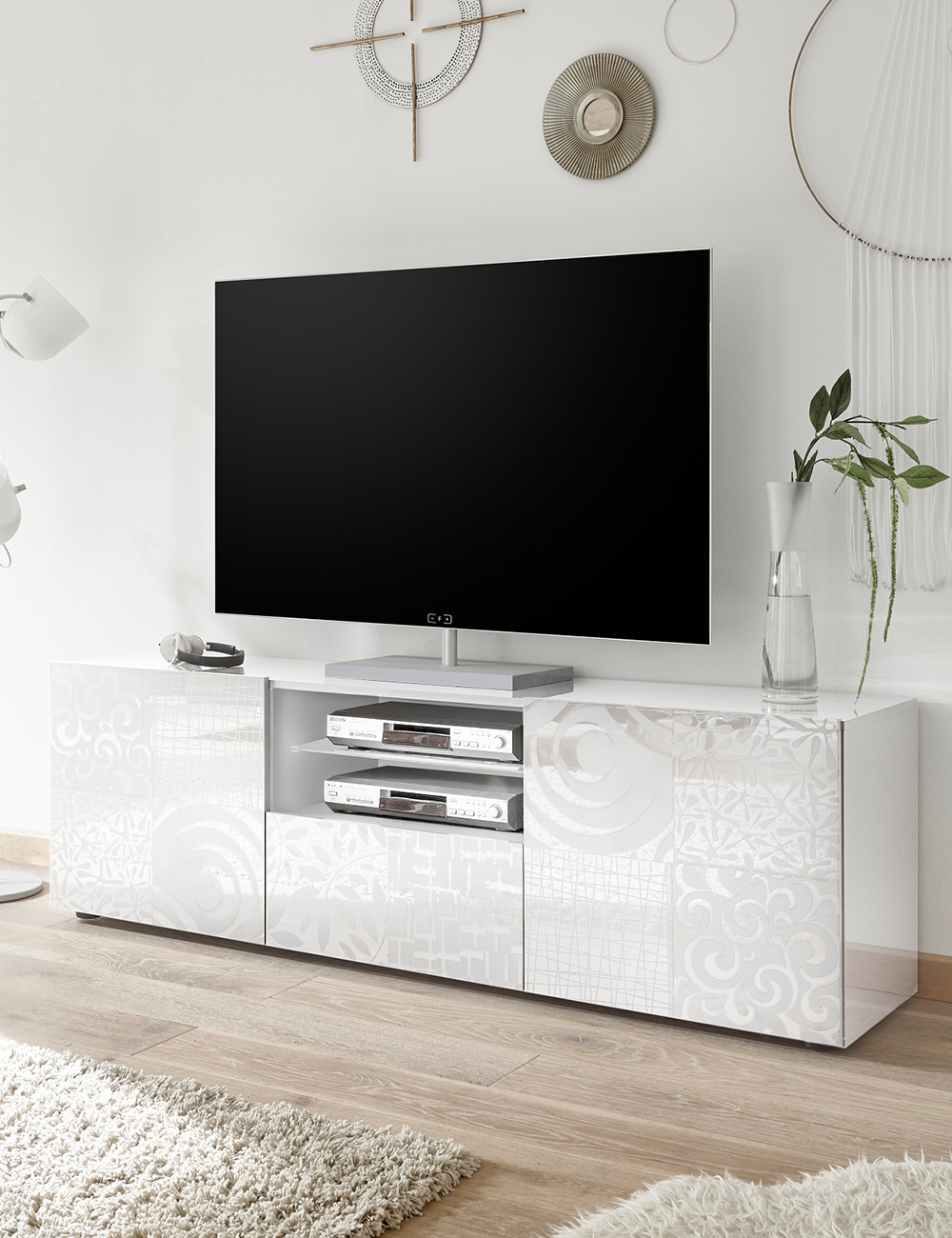 tv m bel emy weiss. Black Bedroom Furniture Sets. Home Design Ideas