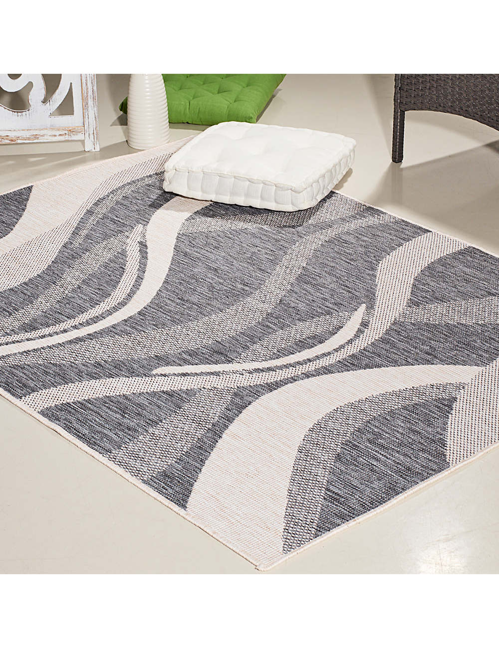 tapis wave r versible 160 x 230 cm. Black Bedroom Furniture Sets. Home Design Ideas