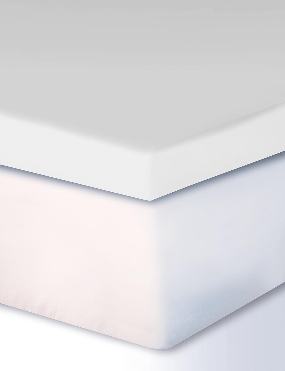 drap housse pour surmatelas boxspring 180 200 x 200 cm blanc. Black Bedroom Furniture Sets. Home Design Ideas