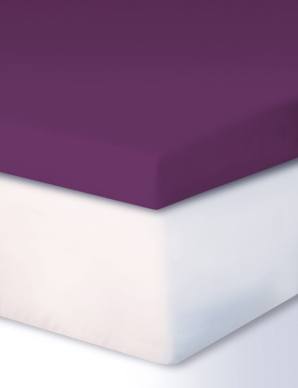 fixleintuch f r boxspring topper 140 160 x 200 cm violett. Black Bedroom Furniture Sets. Home Design Ideas
