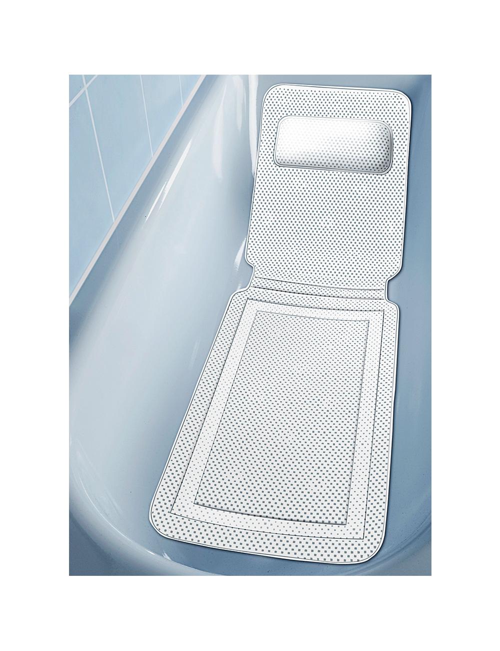 tapis de baignoire avec coussin nuque - Tapis Baignoire