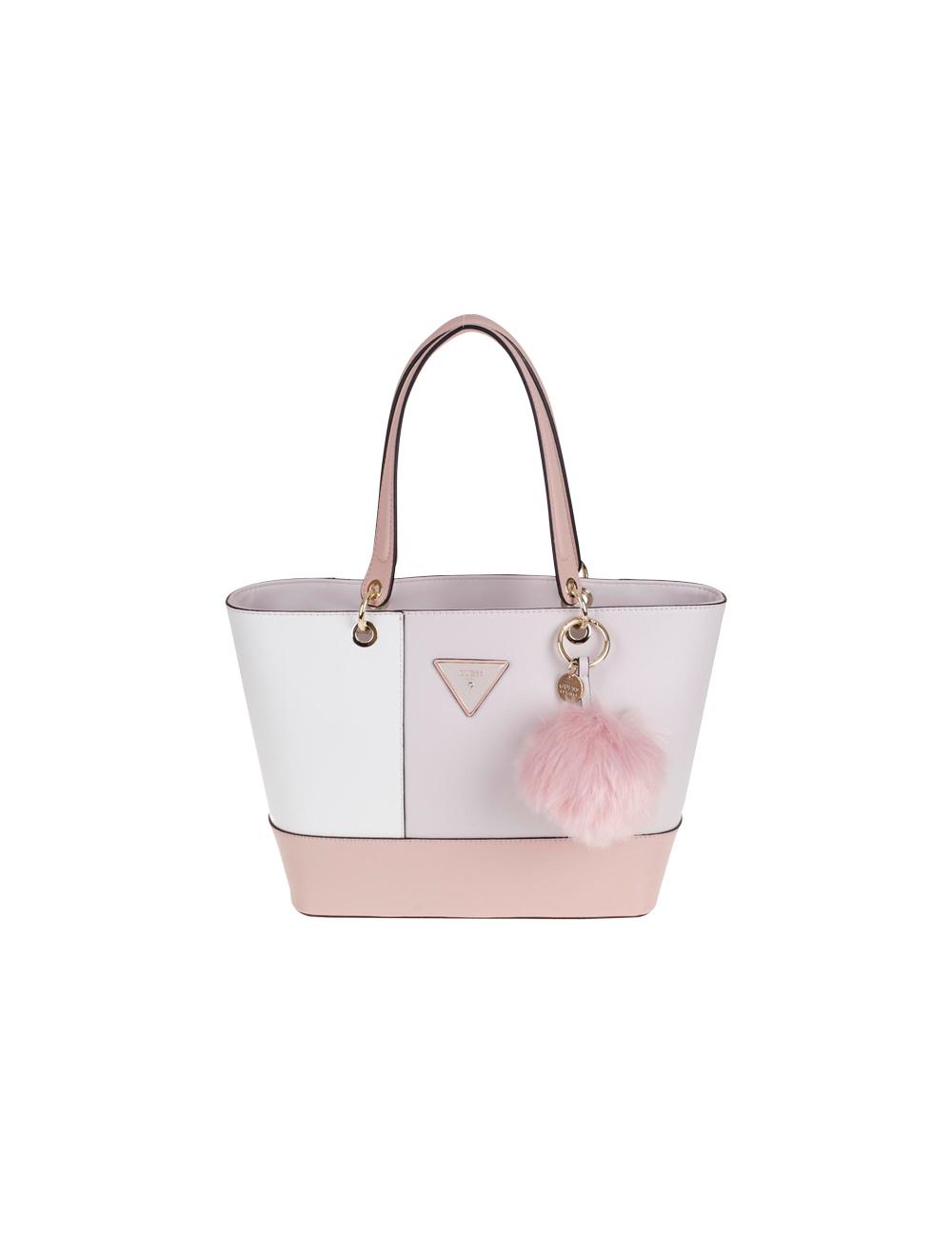 Handtasche von Guess «Kamryn» rosa und weiss