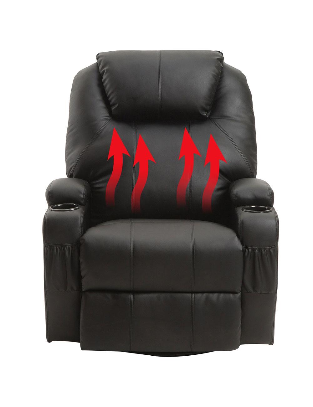 Chaise de bureau chauffante, massage ou sport, laquelle