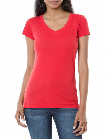 Damen T-Shirt US Polo ASSN, rot