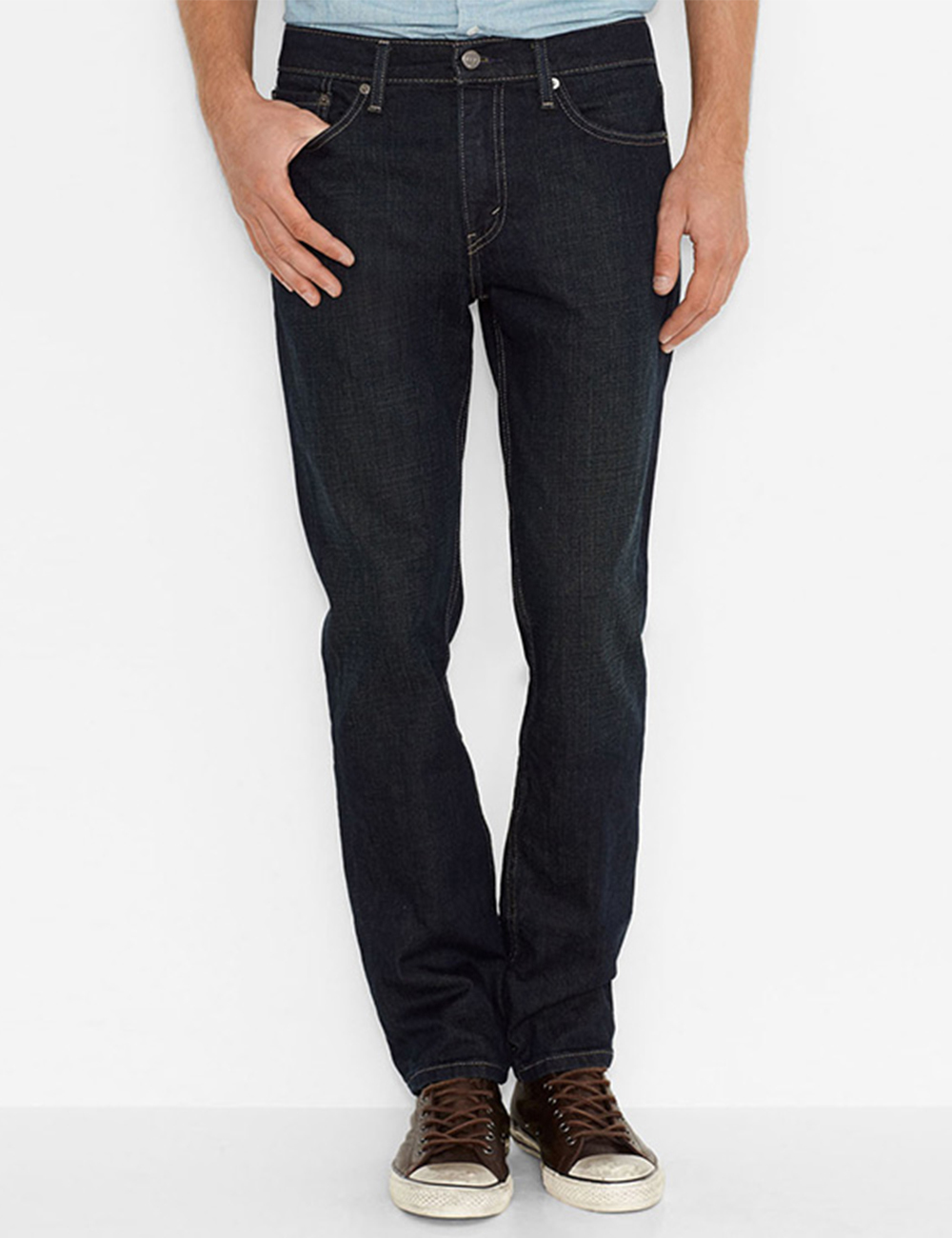 kommt an neue hohe Qualität gehobene Qualität Levi's Herren-Jeans «511», L30, blau/grün