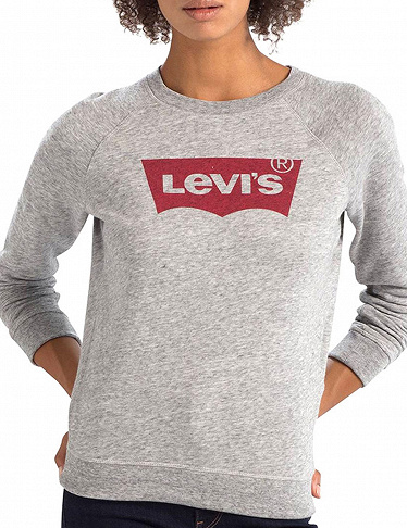 Damen-Pullover «THE GRAPHIC CLASSIC CREW» von Levi's, grau