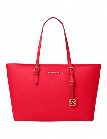 Ledertasche von Michael Kors «Jet Set Travel Medium», rot
