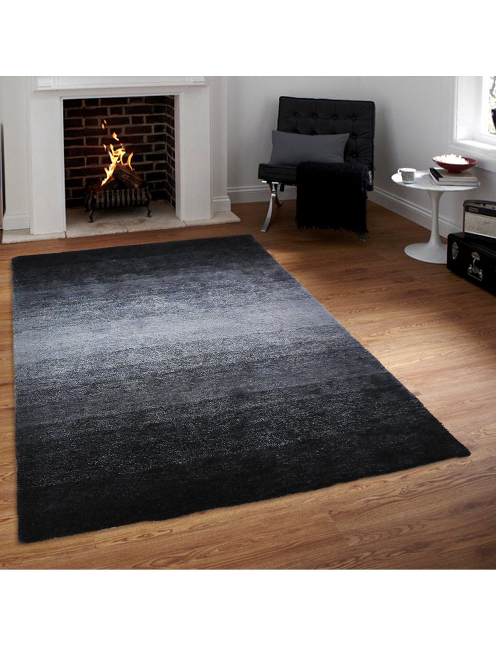 teppich shine schwarz grau 120 x 170 cm. Black Bedroom Furniture Sets. Home Design Ideas