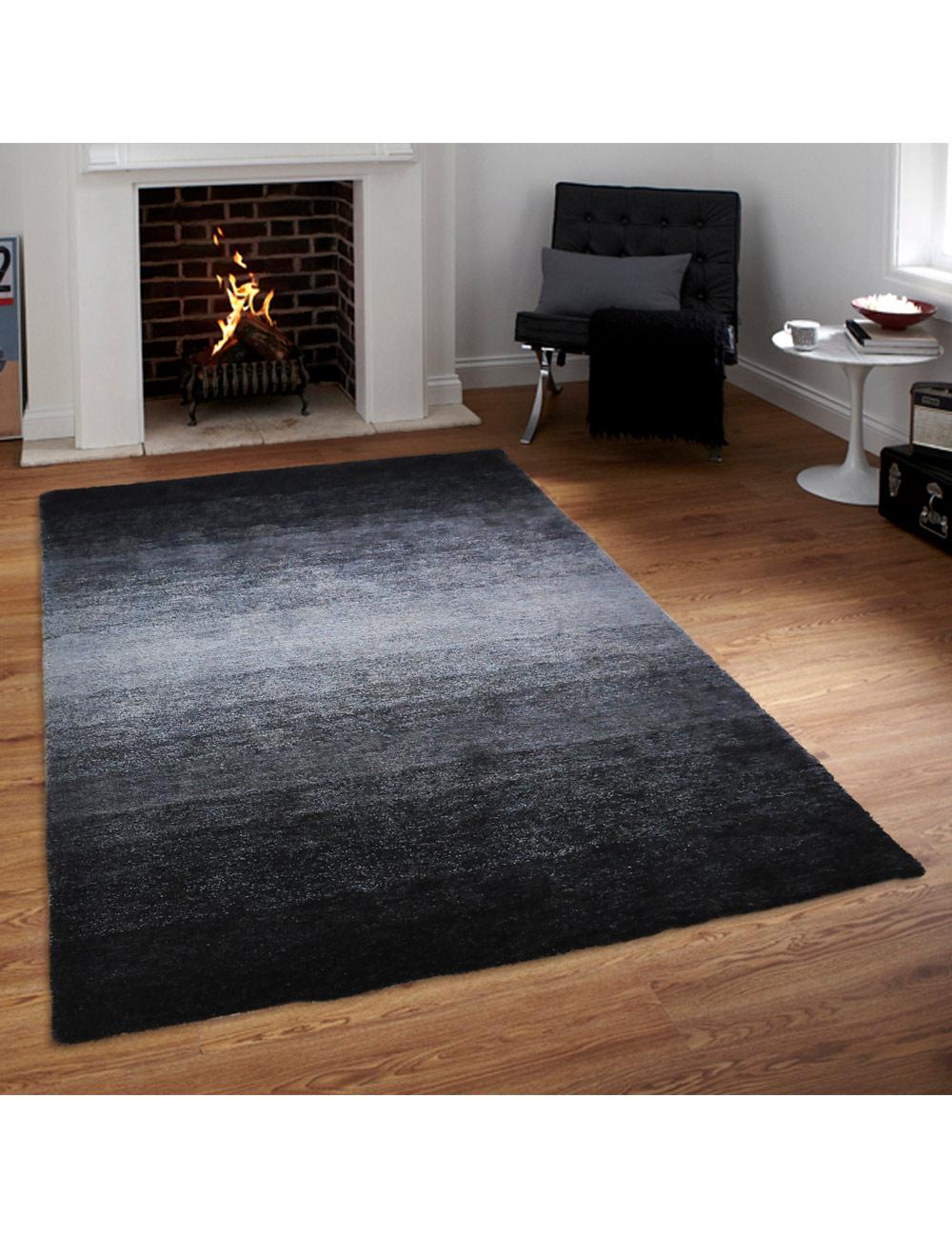 teppich shine schwarz grau 160 x 230 cm. Black Bedroom Furniture Sets. Home Design Ideas