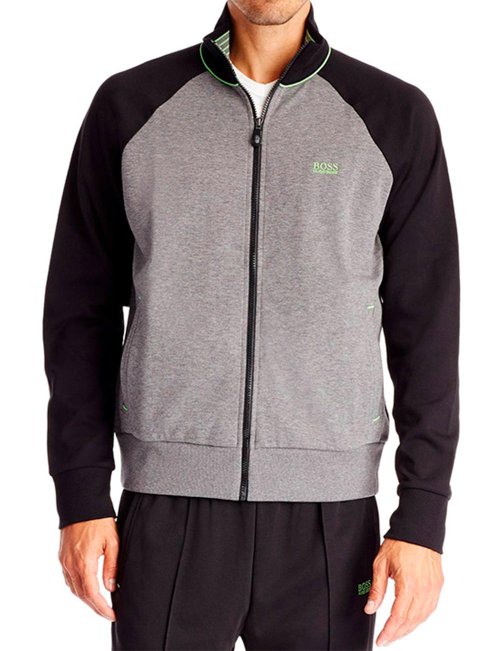 veste de jogging pour hommes skoz de hugo boss gris clair noir. Black Bedroom Furniture Sets. Home Design Ideas
