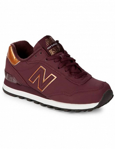 Damen-Sneakers «Low-Top Metallic Trim» von New Balance, bordeaux