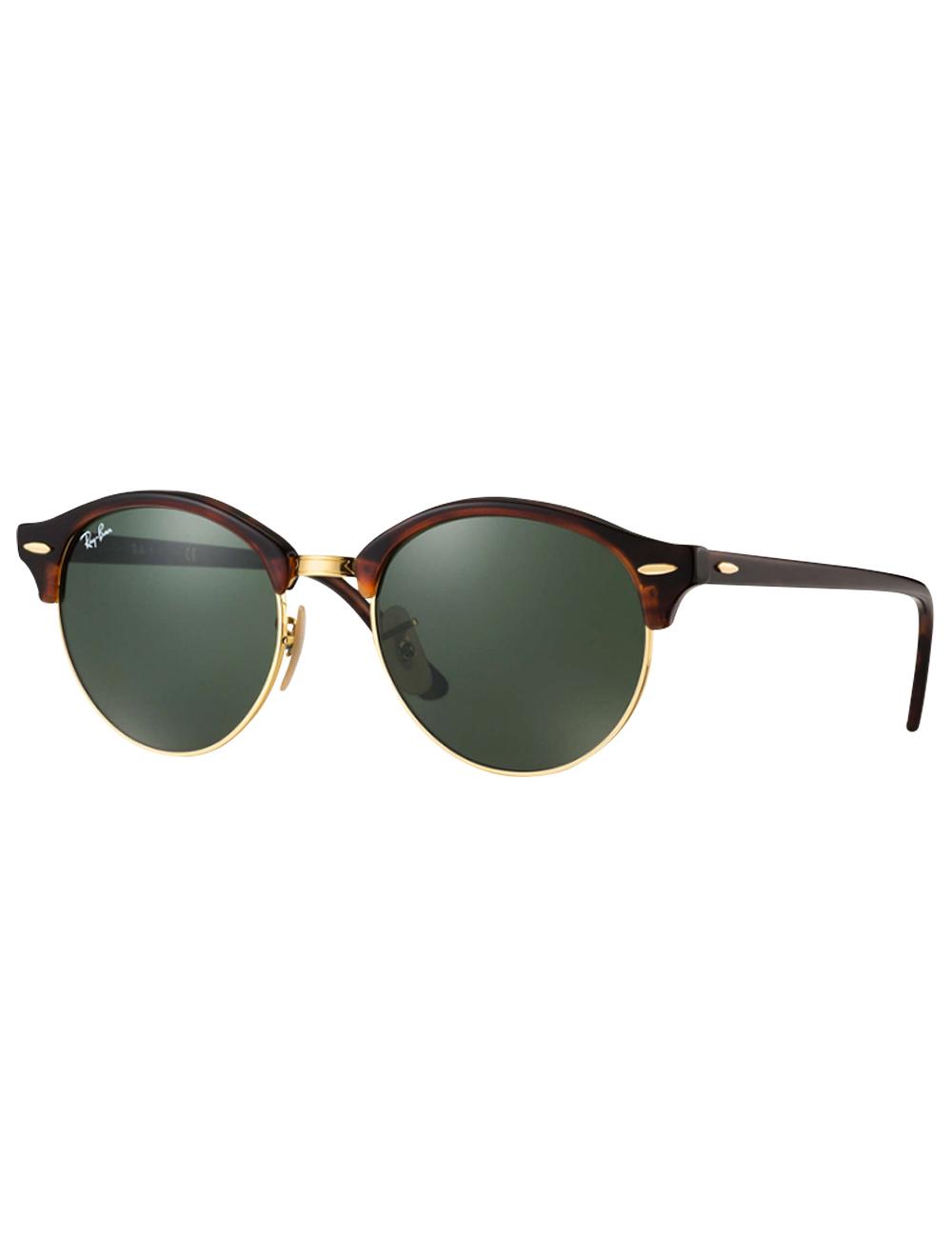 1b2440c52903c7 Damen-Sonnenbrille von Ray Ban «Clubround», Havana/goldfarben