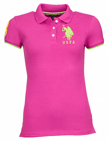 Damen Polo-Shirt von US Polo ASSN, violett