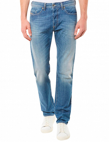 Herren-Jeans in Used-Optik  «Buster», Diesel, L 32, hellblau