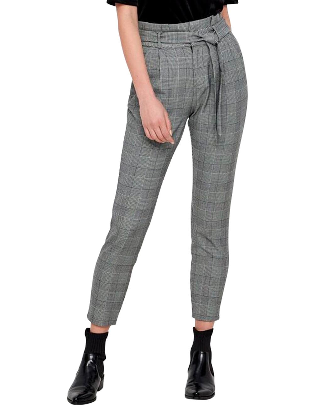 9ab6c0c55d98 Pantalon Vero Moda, gris à carreaux, L 30