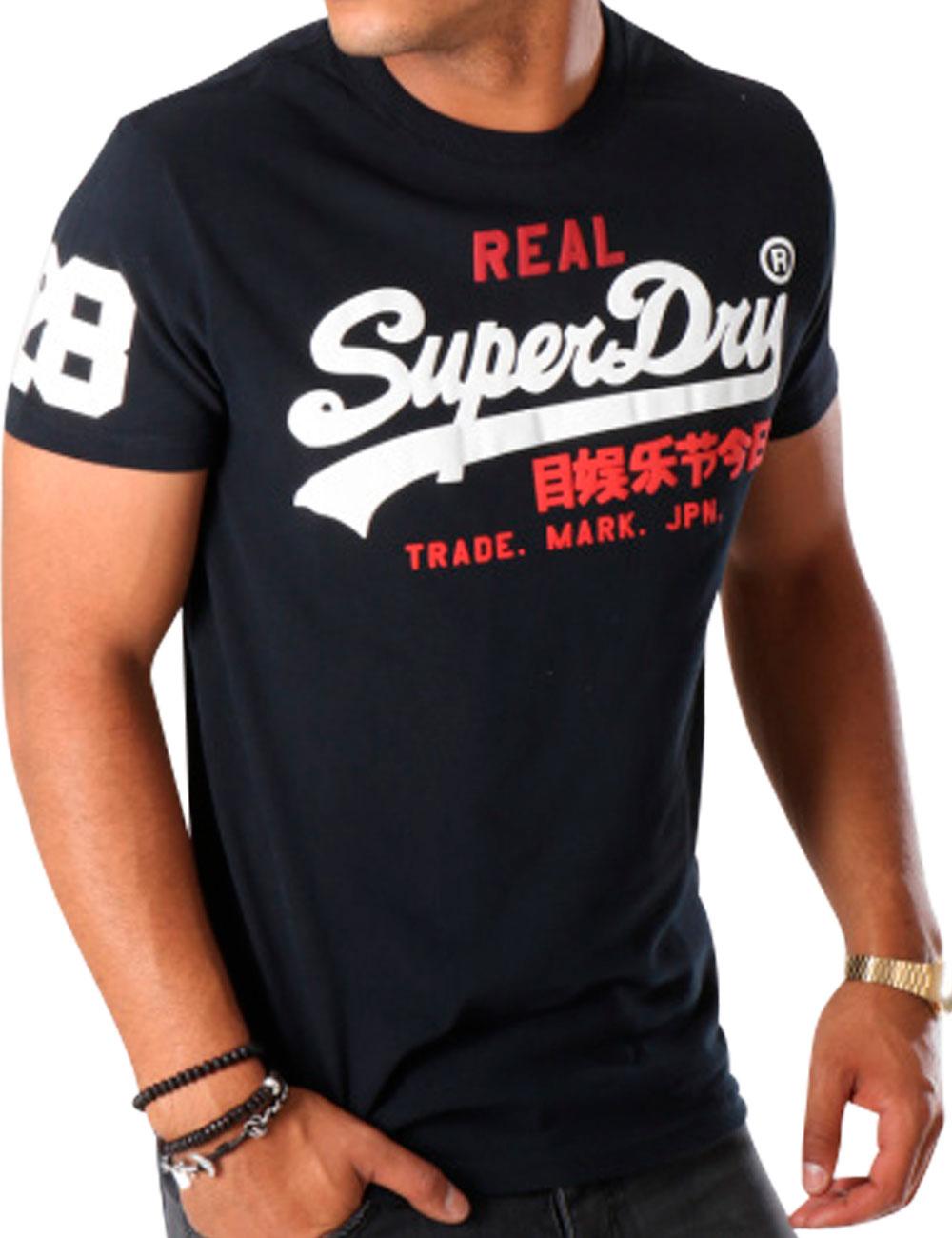 on sale 10472 0e8d9 T-Shirt Superdry «Vintage Logo», navy