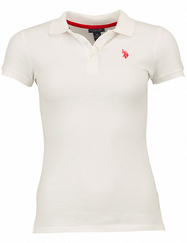 Damen-Poloshirt  US Polo ASSN, weiss