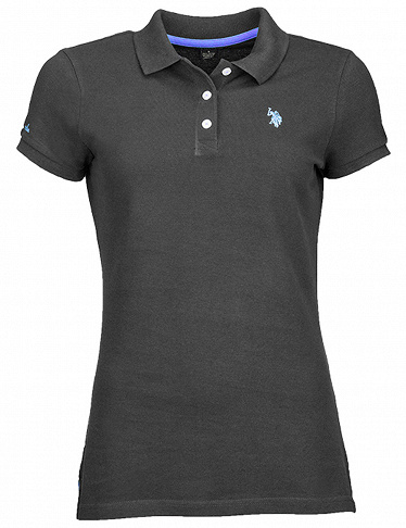 Damen-Polo US Polo ASSN, schwarz