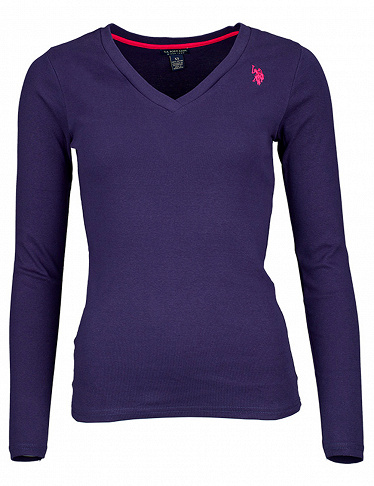 Damen-T-Shirt US Polo ASSN, dunkelblau