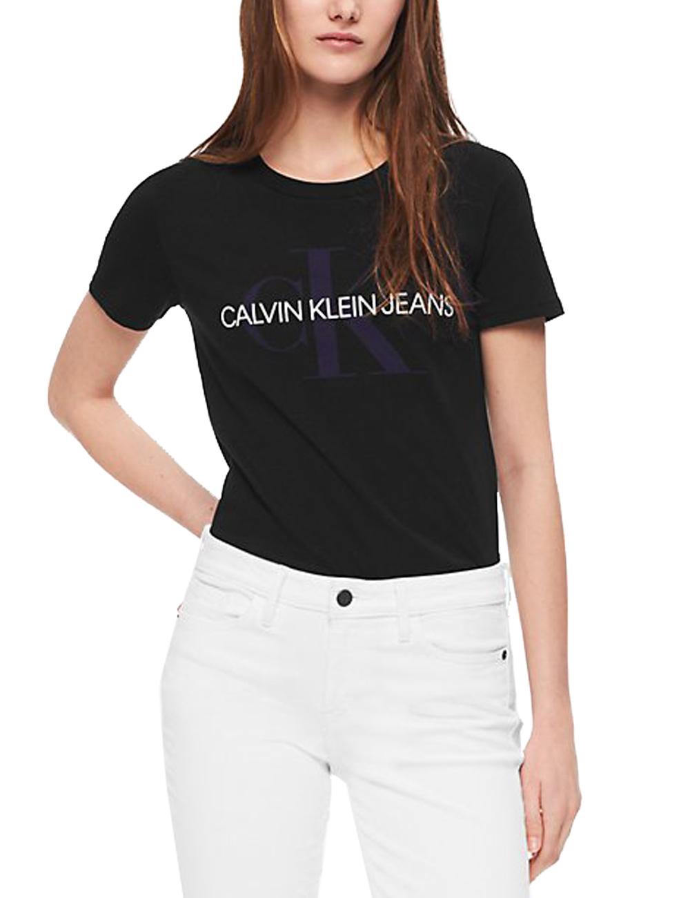 9ad32f2fe0d4f9 Damen T-Shirt, Calvin Klein, schwarz