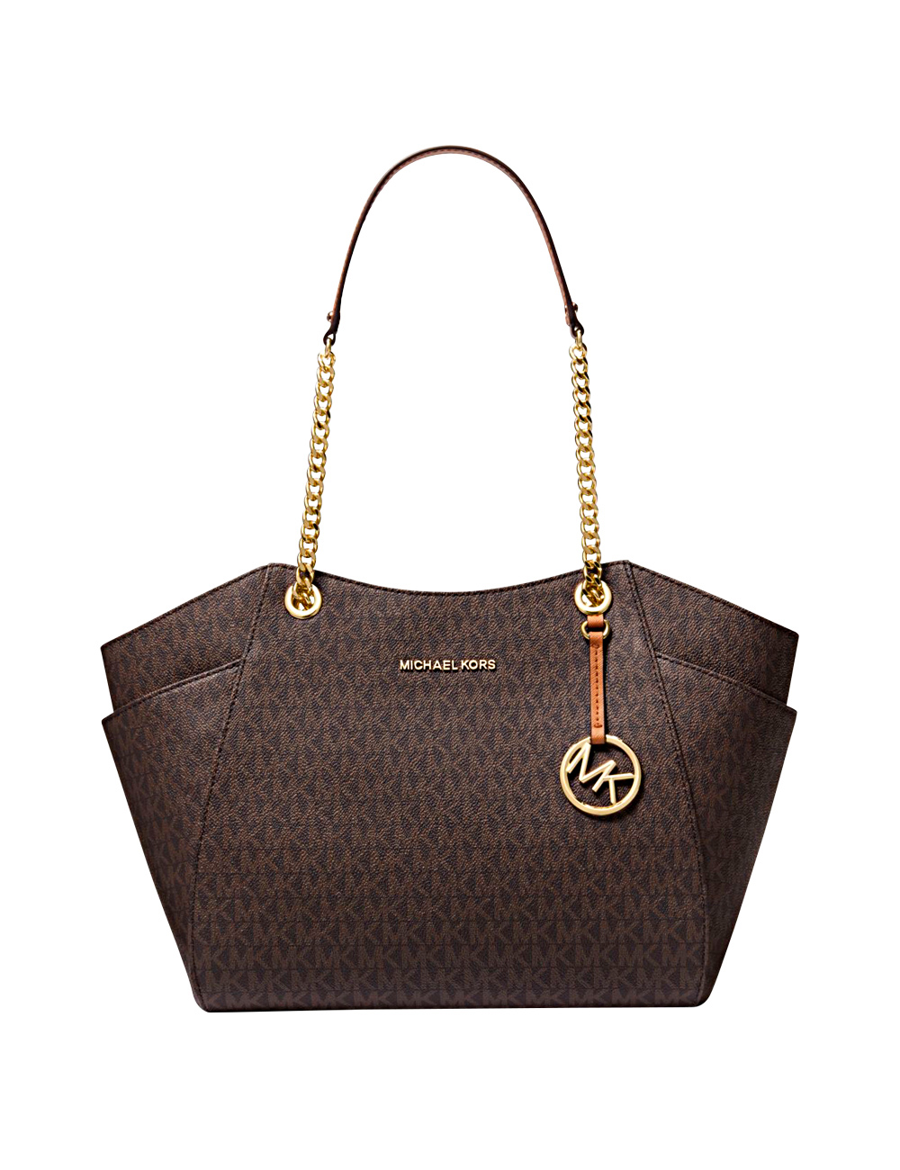 handtasche jet set tote michael kors braun. Black Bedroom Furniture Sets. Home Design Ideas