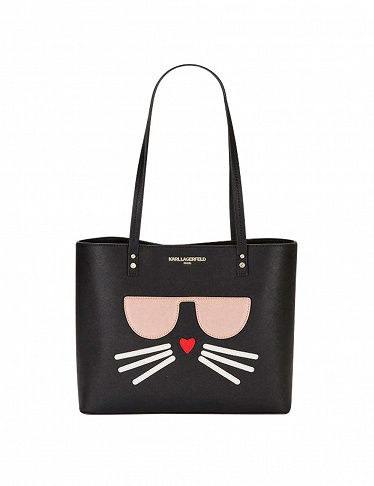 Handtasche Karl Lagerfeld «Cat Face Tote», weiss